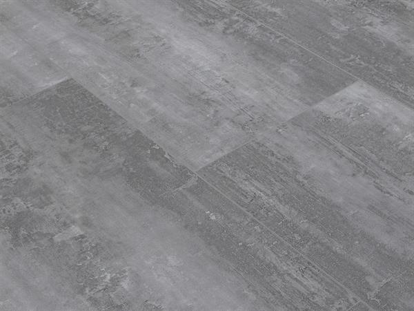 Klick Vinyl XL-Fliese, Check one Rheinpreußen Beton, 4,0 x 830 x 450 mm, Kanten gefast, Nutzungsklasse 23/31, Nutzschicht 0,3 mm, Vinylboden mit stabiler RIGID Trägerplatte in Fliesenoptik