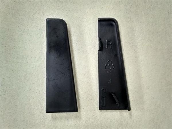 Check Sockelleisten Endstück im Farbton schwarz Set mit 2 Stück