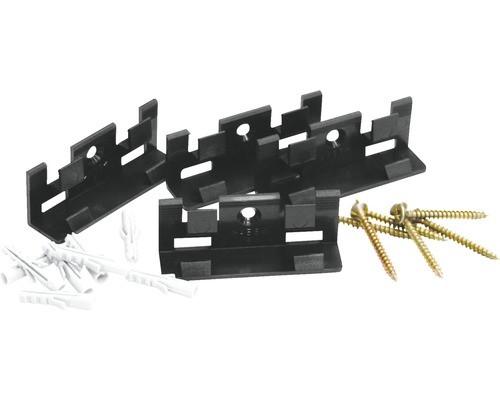 Sockelleisten Befestigungsclips Set mit 30 Clips, Schrauben und Dübel für 15 m Leisten Montage