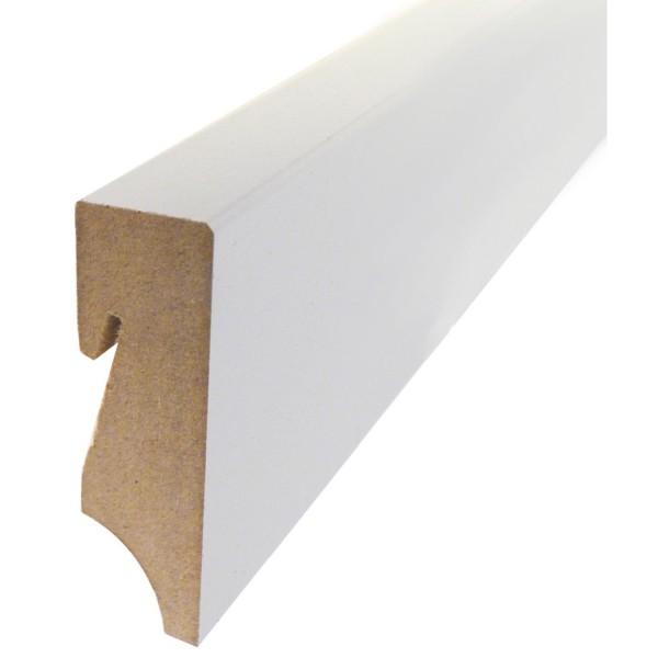 MEFO FLOOR Sockelleiste MDF weiß deckend mit den Abmessungen 18 x 78 x 2500 mm