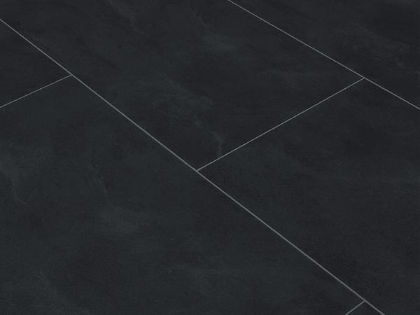 Vinylboden Fliesenoptik, Check one XL Fliese Eiberg Schiefer, 4,0 x 830 x 450 mm, Kanten gefast, Nutzungsklasse 23/31, Nutzschicht 0,3 mm, mit stabiler RIGID Vinyl Trägerplatte