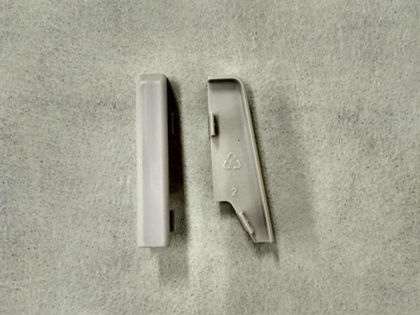 Check Sockelleisten Verbinder im Farbton grau Set mit 2 Stück