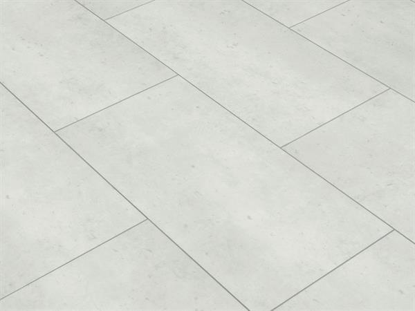 Vinylboden Fliesenoptik, Check one Rheinbaben Beton, 4,0 x 305 x 610 mm, Kanten gefast, Nutzungsklasse 23/31, Nutzschicht 0,3 mm, mit stabiler RIGID Vinyl Trägerplatte