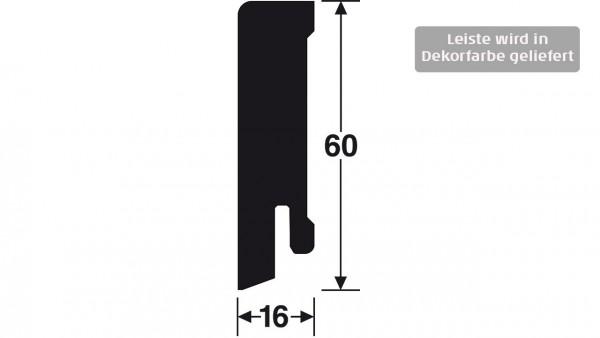 Gunreben Vinyl Sockelleiste Pluto mit den Abmessungen 16 x 60 x 2500 mm