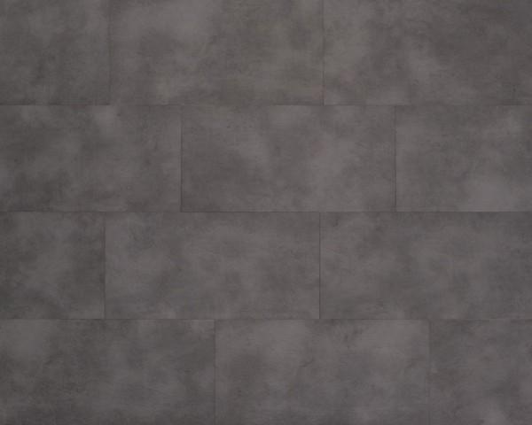 Vinylboden mit integrierter Trittschalldämmung in Fliesenoptik, MEFO FLOOR Melanit, 6,5 x 300 x 600 mm, Kanten gefast, Nutzungsklasse 33/42, Nutzschicht 0,5 mm, mit stabiler SPC Vinyl Trägerplatte