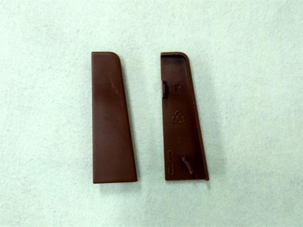 Check Sockelleisten Endstück im Farbton nussbaum Set mit 2 Stück-Copy