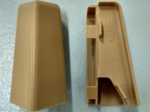 Check Sockelleisten Außenecke im Farbton buche Set mit 2 Stück