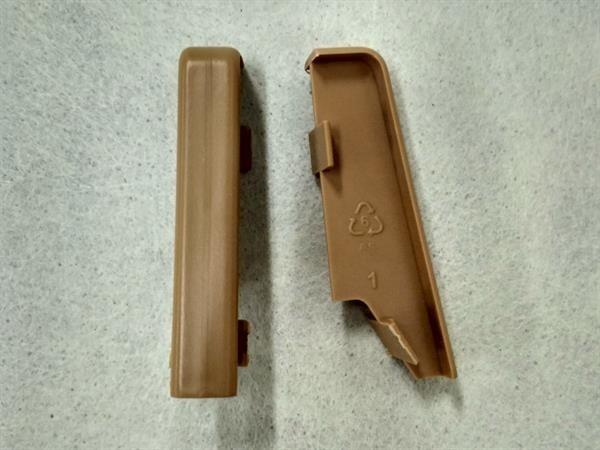 Check Sockelleisten Verbinder im Farbton eiche Set mit 2 Stück