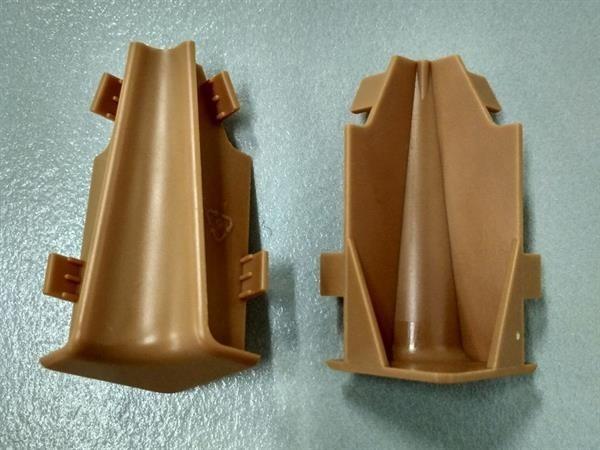 Check Sockelleisten Innenecke im Farbton buche Set mit 2 Stück
