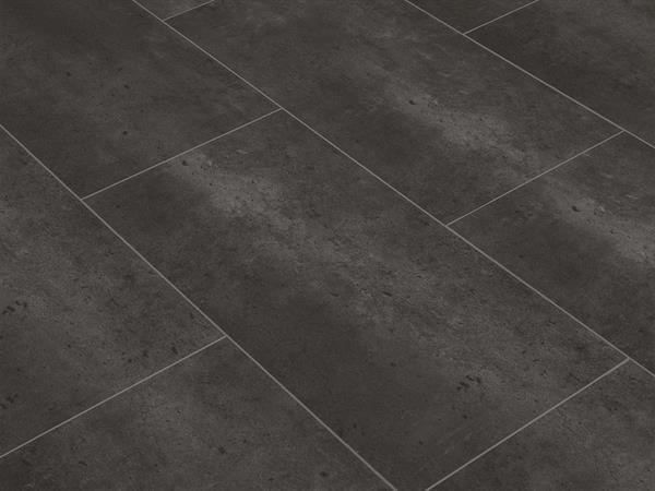 Vinylboden Fliesenoptik, Check one Neumühl Beton, 4,0 x 305 x 610 mm, Kanten gefast, Nutzungsklasse 23/31, Nutzschicht 0,3 mm, mit stabiler RIGID Vinyl Trägerplatte