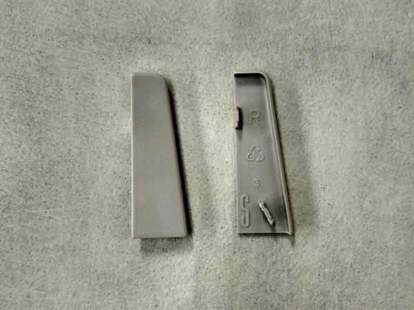 Check Sockelleisten Endstück im Farbton grau Set mit 2 Stück