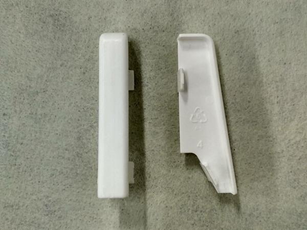 Check Sockelleisten Verbinder im Farbton weiß Set mit 2 Stück