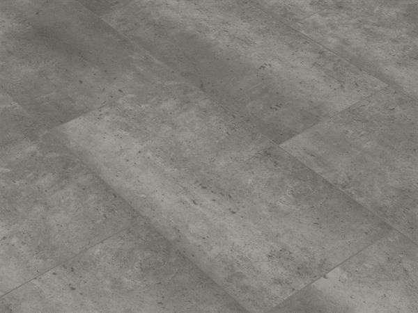 Vinylboden Fliesenoptik, Check one Zweckel Beton, 4,0 x 305 x 610 mm, Kanten gefast, Nutzungsklasse 23/31, Nutzschicht 0,3 mm, mit stabiler RIGID Vinyl Trägerplatte