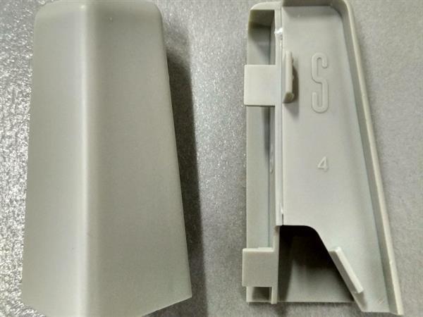 Check Sockelleisten Außenecke im Farbton grau Set mit 2 Stück