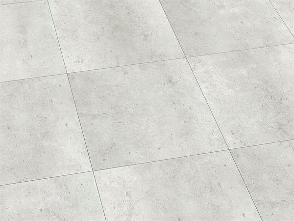Vinylboden Fliesenoptik, Check one Riemke Beton, 4,0 x 457 x 457 mm, Kanten gefast, Nutzungsklasse 33/42, Nutzschicht 0,55 mm, mit stabiler RIGID Vinyl Trägerplatte