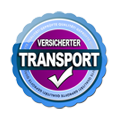 Siegel versicherter Transport
